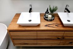 made to order timber vanity