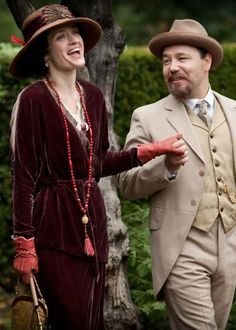 Parade's End. miniseries 2012 with Anne-Marie Duff in a divine wine red velvet dress as 'Edith Duchemin'