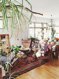 Plant Filled Bohemian Home Of Artist Emily Katz Urban Jungle Meets Boho Chic