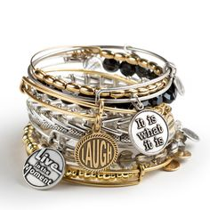 Alex and Ani Words are Powerful collection- be inspired by these everyday words of wisdom