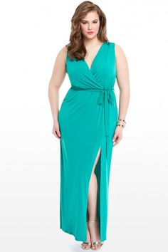 Plus Size Valley Crossover Maxi Dress   Fashion To Figure