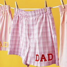 Easy Father's Day Crafts for Kids to Make from BHG Personalized Boxers