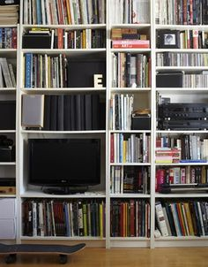 Media storage - Tall book shelves