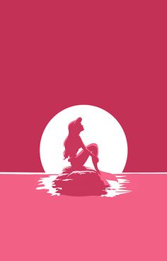 ♥Disney:♥ The Little Mermaid Pink by MargaHG Cute Disney, Disney Dream, Disney Magic, Disney Art, Disney Movies, Disney Pixar, Disney Wallpaper, Wallpaper Backgrounds, Iphone Wallpaper