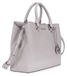 c0e4444996a0 Michael Kors Savannah Medium Leather Satchel Pearl Grey -- More info could  be found at