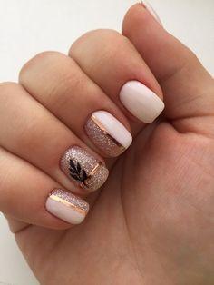 150 cute nail art designs for short nails 2019 9 + Cute Nails, Pretty Nails, My Nails, Glitter Nails, Pink Nails, Gold Glitter, Cute Nail Art Designs, Short Nail Designs, Summer Nail Designs