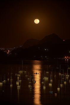 Harbor Moon - Rio de Janeiro, Brazil