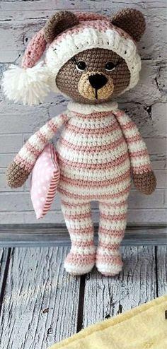 Mesmerizing Crochet an Amigurumi Rabbit Ideas. Lovely Crochet an Amigurumi Rabbit Ideas. Crochet Teddy Bear Pattern, Knitted Teddy Bear, Crochet Animal Amigurumi, Crochet Animals, Crochet Dolls, Crochet Pattern, Amigurumi Patterns, Bear Blanket, Baby Blanket Crochet