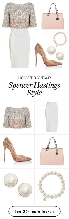 """Spencer Hastings- Easter"" by allycatstar on Polyvore featuring Roland Mouret, Christian Louboutin, MICHAEL Michael Kors, Kate Spade and Sydney Evan"