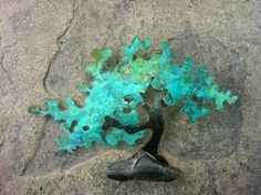 "Saatchi Art Artist Vanessa Williams; Sculpture, ""Ishitsuke  Copper Bonsai"" #art"