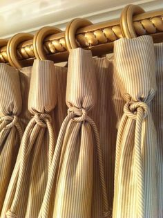 curtain detail (goblet pleat):  Lots of unique ideas