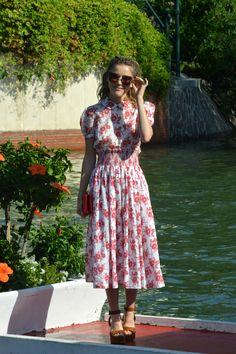 Kiernan Shipka Wears Miu Miu in Venice