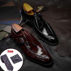 Luxury Fashion Men Bullock Genuine Leather Slip On Dress Shoes – Kidenhouse Suit Shoes, Slip On Dress Shoes, Leather Dress Shoes, Shoes Men, Casual Oxford Shoes, Women Oxford Shoes, Leather Brogues, Leather Men, Groom Wedding Shoes