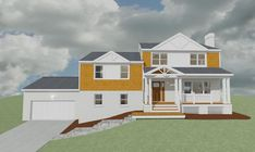 Proposed Upgrade Facade to Split Level Home. Level Homes, Drawing Board, Facade, 1960s, Mansions, House Styles, Projects, Home Decor, Log Projects