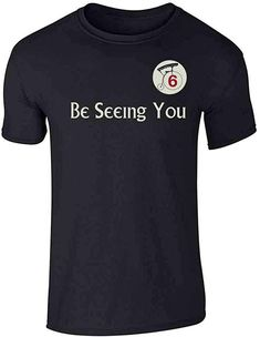 Be Seeing You Number 6 Cult Halloween Costume Graphic Tee T-Shirt for Men