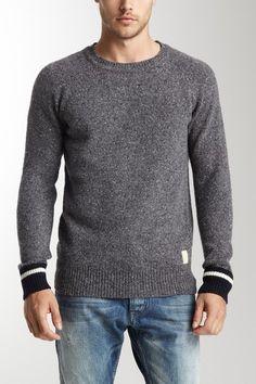 Scotch & Soda Long Sleeve Crew Neck Pullover