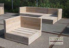 Afbeeldingsresultaat voor steigerhout loungeset