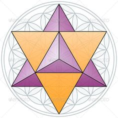 Merkaba and Flower of Life #GraphicRiver The Merkaba, the double tetrahedron, fits in the Flower of Life, a geometrical figure, composed of multiple evenly-spaced, overlapping circles forming a flower-like pattern with the symmetrical structure of a
