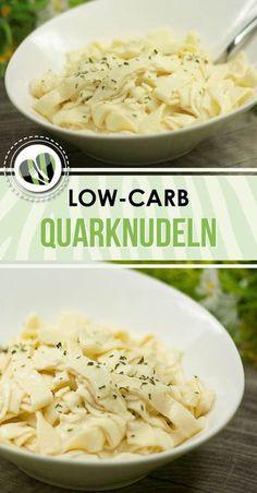 Die Quarknudeln sind eine echte low-carb Alternative zum kohlenhydratreichen Original. Zudem sind sie glutenfrei.