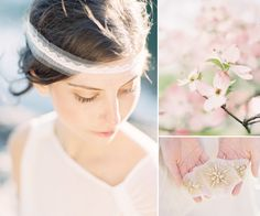 Delicate and unique hair accessories from Hushed Commotion #hairpieces #headbands #bridalaccessories