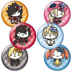 These trading badges feature adorable Tales of Berseria x Hello Kitty collaborative illustrations! The lineup includes six to collect: Velvet, Laphicet, Rokurou, Magilou, Eizen, and Eleanor. Each is as cute as the other! You'll receive a box of six random badges (duplicates are possible!). Pin them to a bag or display them proudly!  #tokyootakumode #toy #Tales_Series #Tales_of_Berseria #Hello_Kitty