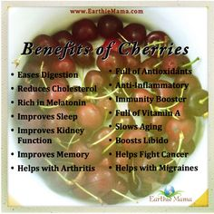 Cherries are amazing for you!! I love sherry season!