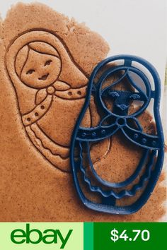 Matryoshka Cookie Cutter-sad it's no longer available! :( would be so fun to have! Matryoshka Doll, Christmas Gingerbread, Christmas Crafts, Russian Recipes, Fabric Dolls, Cool Gifts, Cookie Cutters, Cool Stuff, Wedding Souvenir
