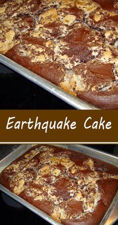 Delicious Cake Recipes, Cake Mix Recipes, Yummy Snacks, Yummy Cakes, Baking Recipes, Dessert Recipes, Brownie Cake, Pie Cake, No Bake Cake