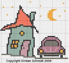 véhicule - véhicle -  - point de croix - cross stitch - Blog : http://broderiemimie44.canalblog.com/