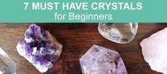 Not sure where to start? Begin your Crystal Healing journey with these Must-Have crystals for beginners. Seven essential crystals nobody should be without. Holistic Healing, Natural Healing, Crystals And Gemstones, Stones And Crystals, Gem Stones, Crystal Guide, Crystal Healing Stones, Crystal Meanings, Chakra Stones