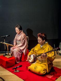 "Accompanying the ""tachikata"" (dancers) were two of Asakusa's senior geisha: Sayo-san (shamisen) and Hideya-san (vocals)"