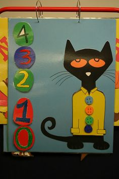 Huge Pete the Cat language board for circle time! Pete the Cat and His Four Groovy Buttons... awesome book!