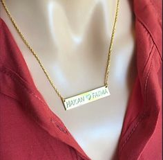 Personalized handmade jewelry by Alpdesignn Name Necklace, Arrow Necklace, Gold Necklace, Personalized Necklace, Etsy Seller, Handmade Jewelry, Diamond, Unique, Gold Pendant Necklace