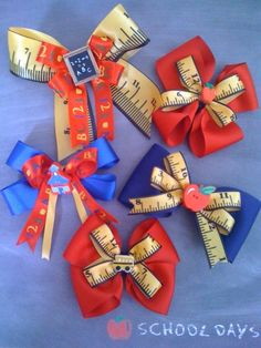 Back to School Hair Bows by Robin's Nest. Order through tuss86@yahoo.com