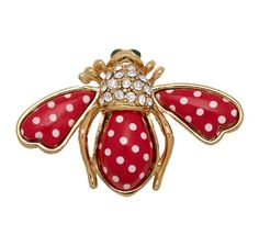 Shimmering with colorful crystals, this Joan Rivers goldtone quilted bee pin makes any outfit truly buzzworthy. Bee Brooch, Brooch Pin, Bee Jewelry, Jewellery, Insect Jewelry, Jewelry Box, Joan Rivers Jewelry, I Love Bees, Spirited Art