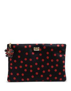 Dolce & Gabbana: Polka Dot Cleo Clutch