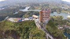 El Peñon de Guatape includes an outdoor area at the top so guests can relax and fully appreciate the sights before they make their descent