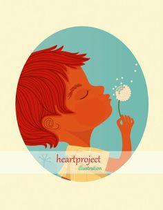 Dandelion 2: Poster imprimible de ilustración por heartproject