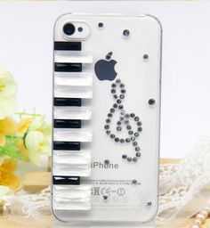 Perfect Piano With Diamond Cases For iPhone 5S 6 And 6 Plus Covers IPS618 | Cheap Cell-phone Case With Keyboard For Sale