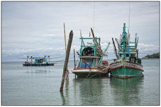 Fishing boats on Ko Phangan, Thailand