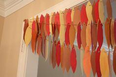 turkey feather garland