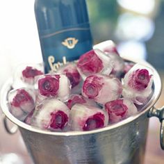 A romantic way to ice champagne and wine.