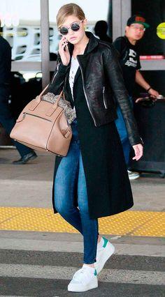 Gigi Hadid Street Style & more details Gigi Hadid Looks, Gigi Hadid Style, Cool Outfits, Fashion Outfits, Womens Fashion, Estilo Gigi Hadid, Gigi Hadid Outfits, Mein Style, Mode Hijab