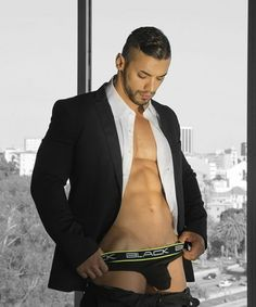 Arad Winwin, actor by Andrew Christian: Black Collection Brief.