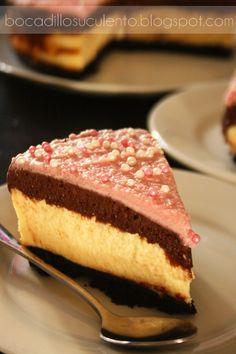 Bocadillo Suculento: Tarta de Queso y Mousse de Chocolate.