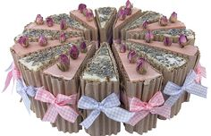 Our natural handmade soaps wrapped and displayed