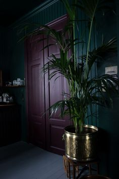 Best Glidden Interior Paint Colors for a Purple Bedroom Dark Interiors, Colorful Interiors, Bedroom Green, Bedroom Decor, Dark Purple Bedrooms, Dark Rooms, Goth Bedroom, Black Bedrooms, Home Design