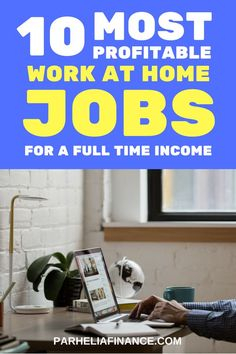 Are you looking for a work at home job? Here are some of the most profitable work at home jobs you can start in They are highly in demand and will be great if you're looking to earn money from home. Click through to learn how you can work from home! Online Jobs From Home, Home Jobs, Online Work, Work From Home Opportunities, Work From Home Tips, Work At Home, Earn Money From Home, Way To Make Money, Money Fast