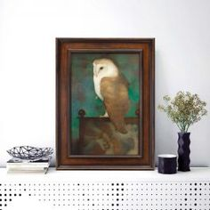 Big Owl on Screen in Frame Johannes Vermeer, Sustainable Forestry, Vincent Van Gogh, Handmade Wooden, Art Reproductions, Wooden Frames, Netherlands, Giclee Print, Old Things