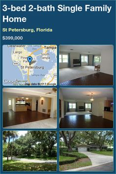 3-bed 2-bath Single Family Home in St Petersburg, Florida ►$399,000 #PropertyForSale #RealEstate #Florida http://florida-magic.com/properties/8322-single-family-home-for-sale-in-st-petersburg-florida-with-3-bedroom-2-bathroom